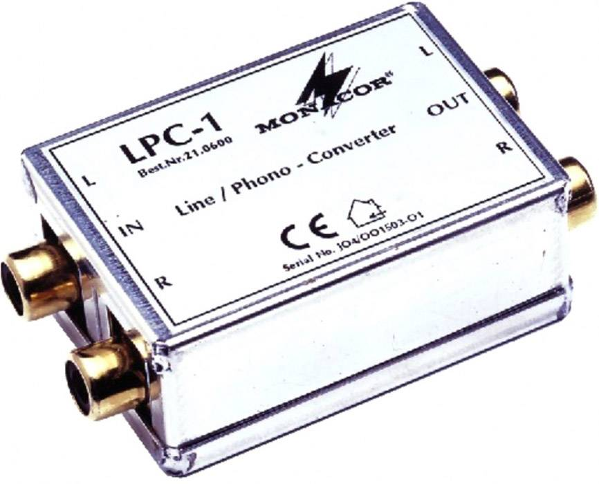 Monacor LPC-1 Adaptateur Ligne / Phono - Alimentations électrique