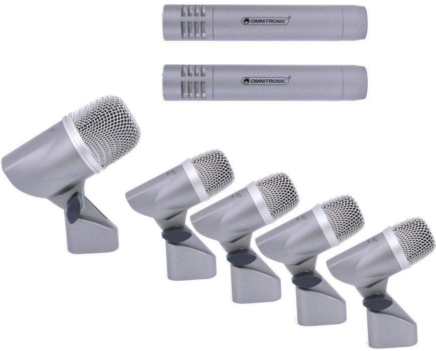 OMNITRONIC MIC 77-7LMH Drum microphone set - Kits de microphones