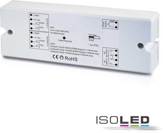 ISOLED Récepteur sans fil Sys-One/variateur d'intensité bouton-poussoir, sortie 0-10 V, 230 V - Accessoires divers
