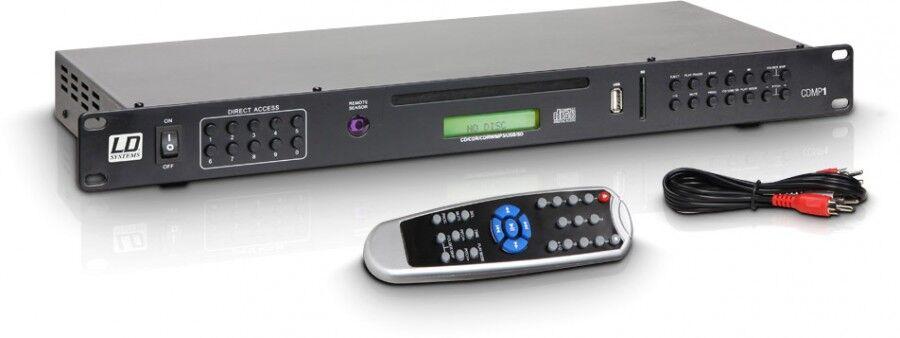 LD Systems CDMP 1 Lecteur multimédia : CD, USB, carte SD, compatible MP3 - Lecteur simple CD/DVD et MP3