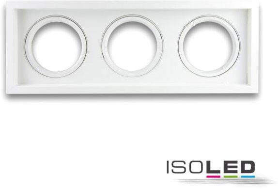 ISOLED Collerette d'encastrement rectangulaire orientable, AR111, limitant la luminance, 3 - Encastrés de plafond