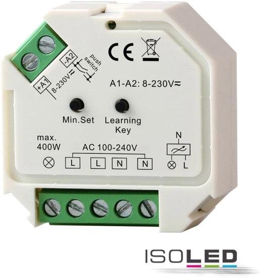 ISOLED Récepteur sans fil Sys-One/variateur d'intensité bouton-poussoir, 230 V, 400 VA - Accessoires divers