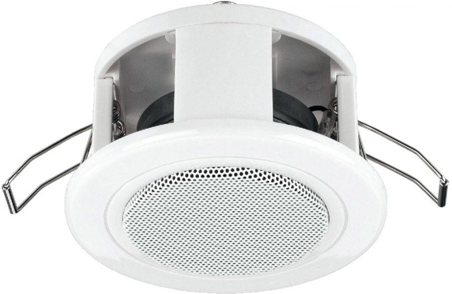 Monacor EDL-84/WS Haut-parleur Public Adress de plafond - Haut-parleurs ELA 100 V