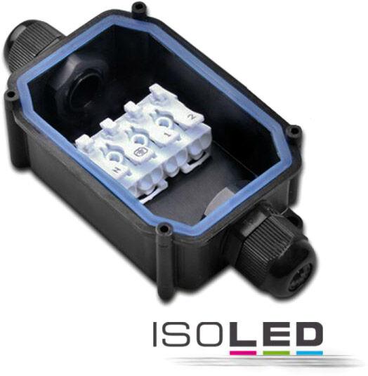 ISOLED Connecteur de câbles IP67, raccord fileté + bornes bouton-poussoir 2x4 pôles - Accessoires divers