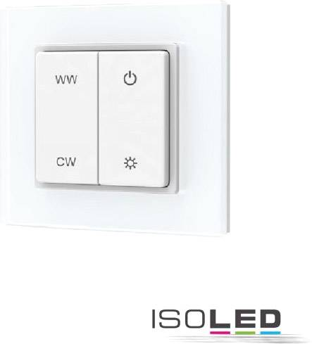 ISOLED Sys-pro Télécommande murale à bouton poussoir sur batterie, blanc dynamique, 1 circuit - Accessoires divers