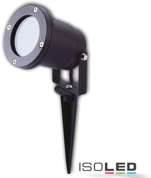 ISOLED Spot monté en saillie GU10, IP65, noir avec piquet d'ancrage en terre - Lampes sur pied, murales et de plafond (extérieur)