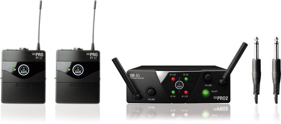 AKG WMS 40 MINI Dual Instrumental Set - Systèmes d'émetteurs portatifs