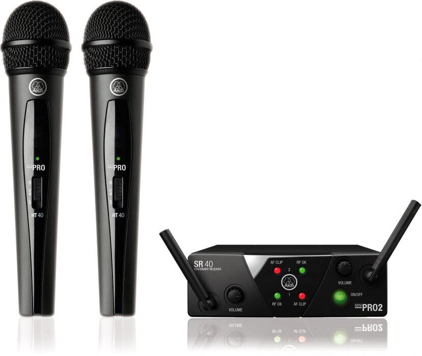 AKG WMS 40 MINI2 Vocal Set Dual Drahtlos Mikrofonsystem - Systèmes d'émetteurs portatifs
