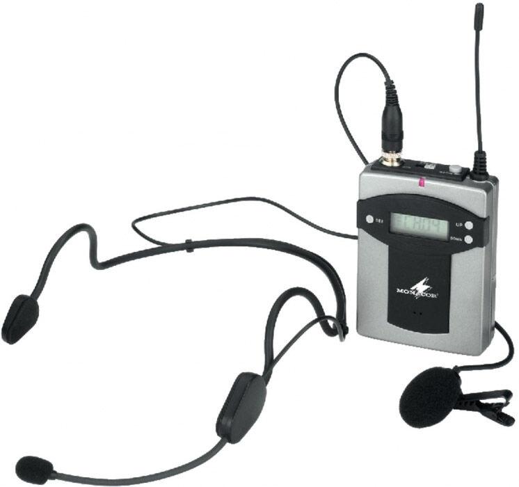 Monacor TXA-800HSE Emetteur de poche multifréquences, - Composants individuels