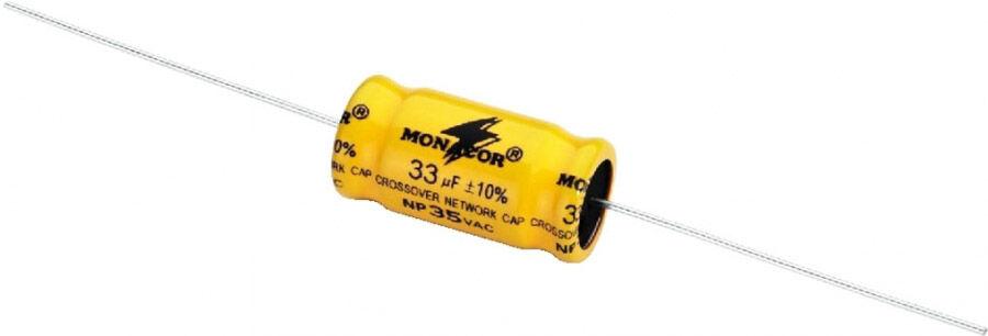Monacor LSC-330NP Condensateurs électrolytiques bipolaires 1,5-300 µF - Répartiteurs de fréquence/Pièces détachées