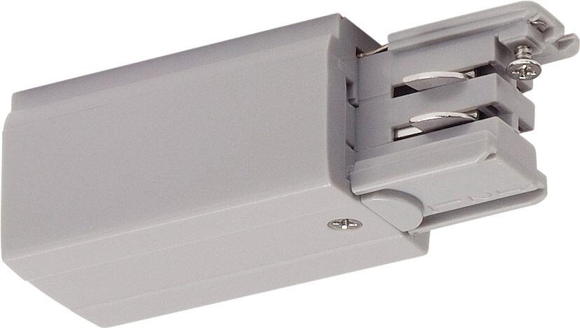 SLV ALIMENTATION pour rail en saillie triphasé 230V S-TRACK terre droite, - Accessoires pour barres conductrices triphasées