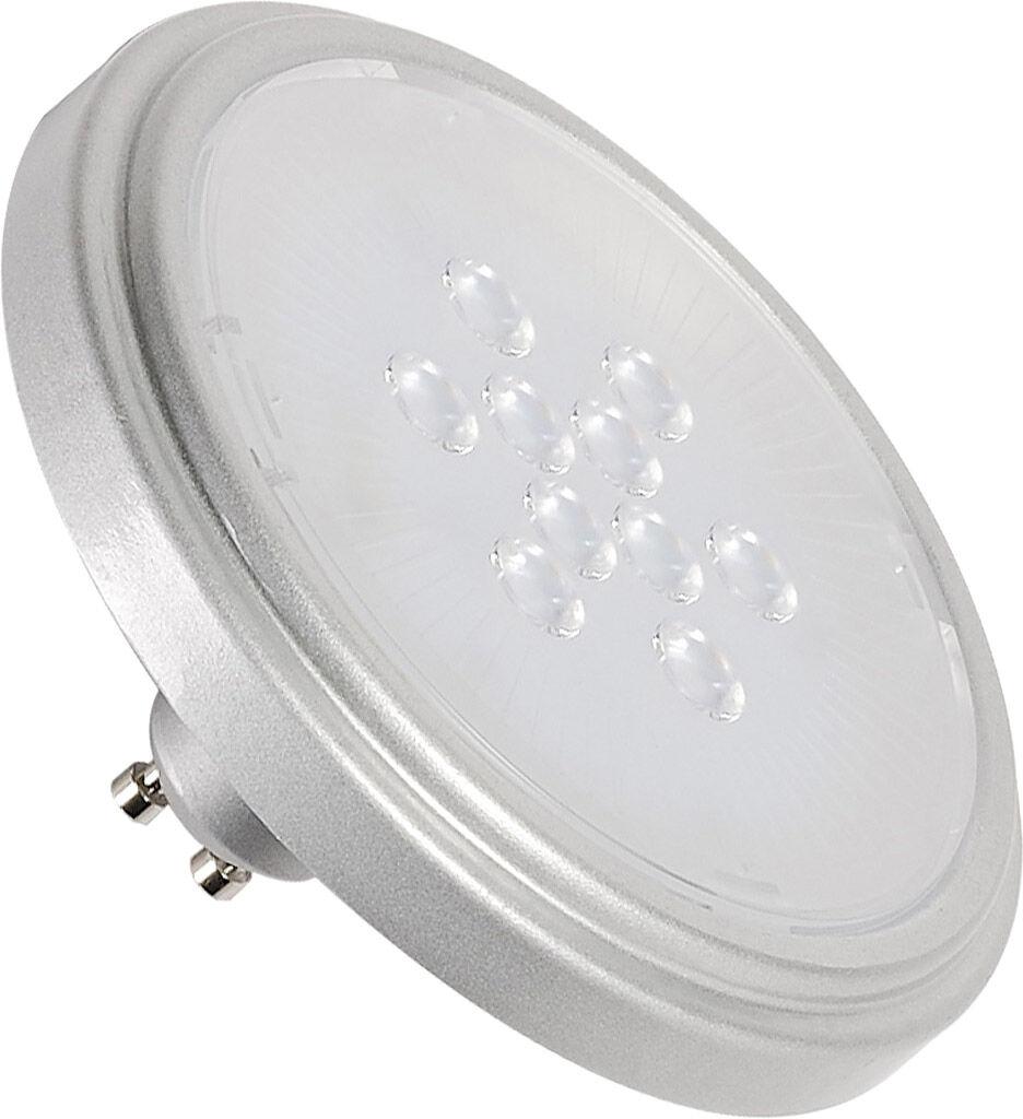 SLV Source LED QPAR111 RETROFIT GU10, 2700K, 40°, gris argent - Lampes LED ES111