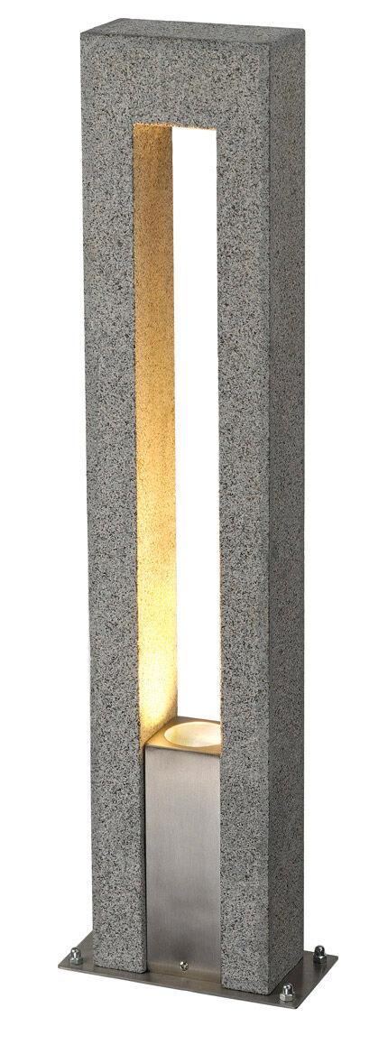 SLV Lampadaire extérieur ARROCK ARC QPAR51, IP44, sel et poivre, granite, - Lampes sur pied, murales et de plafond (extérieur)