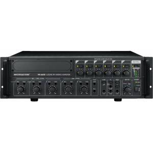 Monacor PA-6600 Amplificateur-Mixeur Public Adress 6 zones mono - Installation amplificateurs - Publicité