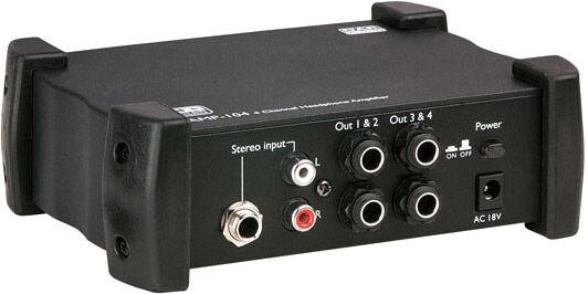 DAP-Audio AMP-104 Amplificateur pour casque, 4 canaux - Alimentations électrique