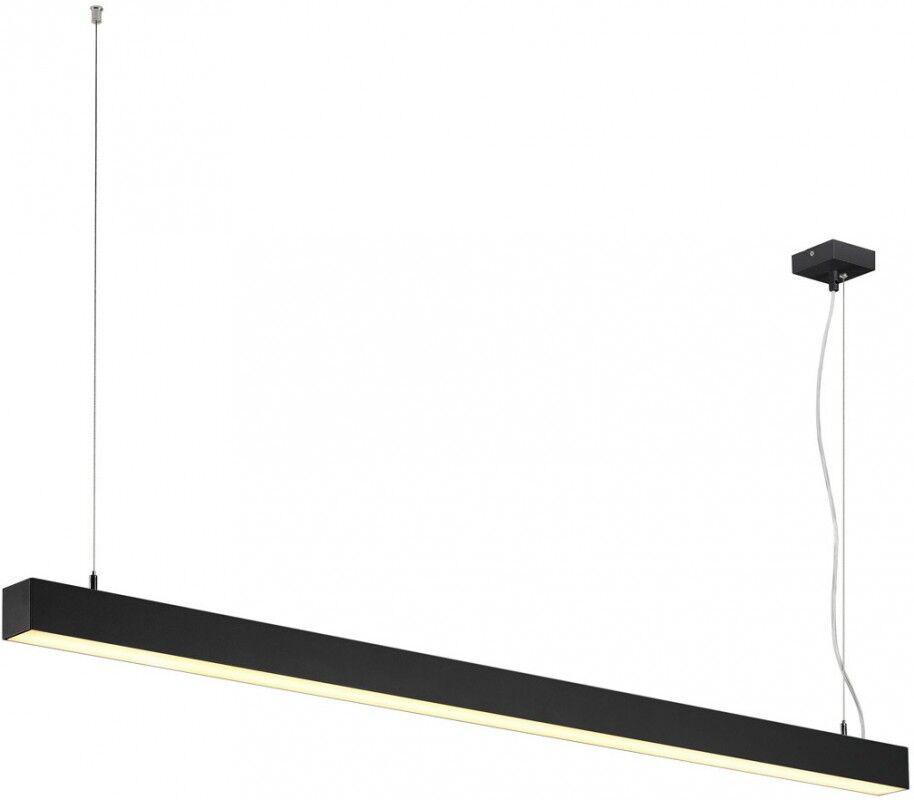 SLV Suspension LED Q-LINE SINGLE 1500mm, noir - Lampes pendulaires