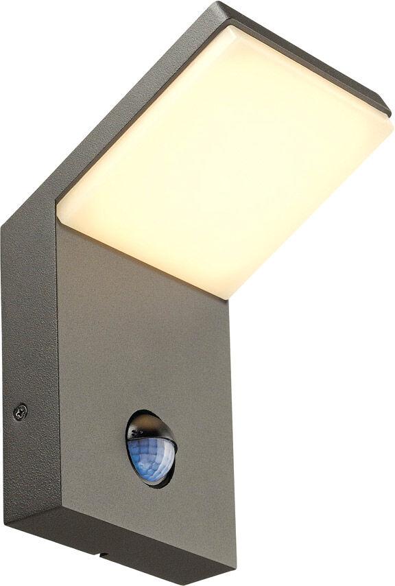 SLV Applique extérieure ORDI LED, 3000K, anthracite, avec capteur - Lampes sur pied, murales et de plafond (extérieur)