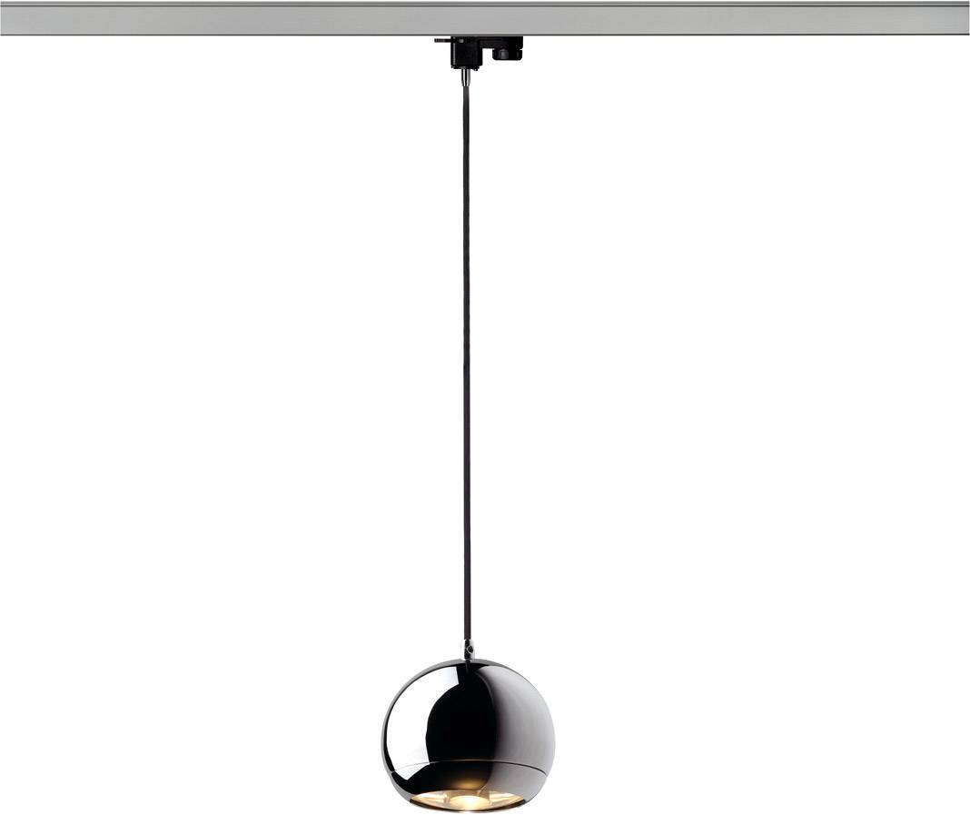 SLV Suspension LIGHT EYE pour rail triphasé 230V QPAR111, chrome, max. 75W - Lampes pendulaires