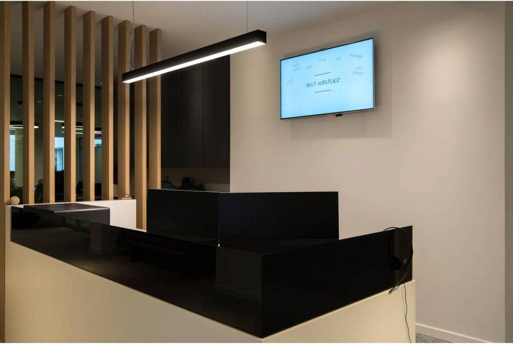 SLV Suspension profilée GLENOS, LED, 3000 K, noir, 1 m, 43 W - Lampes pendulaires