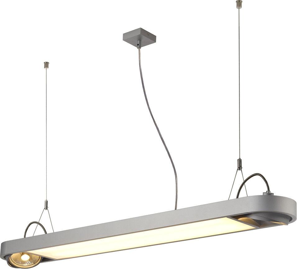 SLV Suspension AIXLIGHT R OFFICE à deux lampes, QPAR111, rectangulaire, gr - Lampes pendulaires