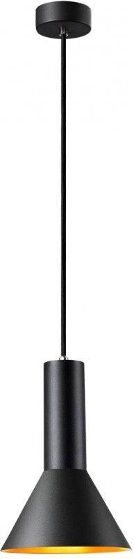 SLV PHELIA 175 E27, suspension intérieure, noire/dorée - Lampes pendulaires
