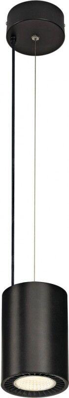 SLV SUPROS PD, suspension intérieure LED, ronde, noire, 4000K, réflecteur 60°, CRI90, 3520lm - Lampes pendulaires
