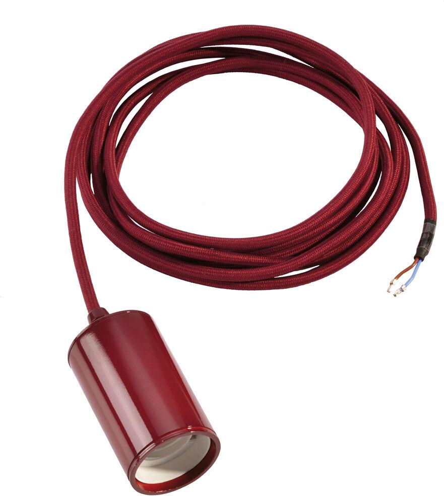 SLV Suspension FITU A60, rond, bordeaux, câble 2,5m avec extrémité dénudée - Lampes pendulaires