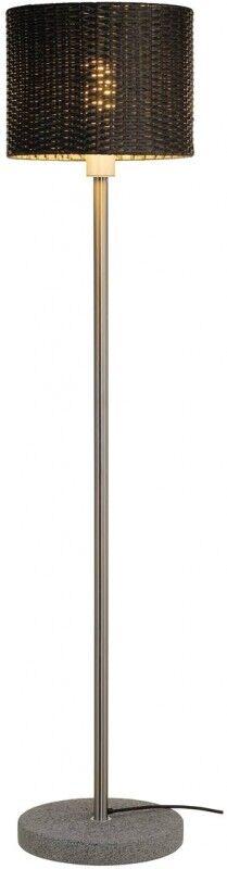 SLV Lampadaire ADEGAN MANILA SL, rotin PE anthracite + inox 304 + - Lampes d'ambiance, de table et sur pied