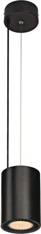 SLV SUPROS PD, suspension intérieure LED, ronde, noire, 3000K, réflecteur 60°, CRI90, 2600lm - Lampes pendulaires