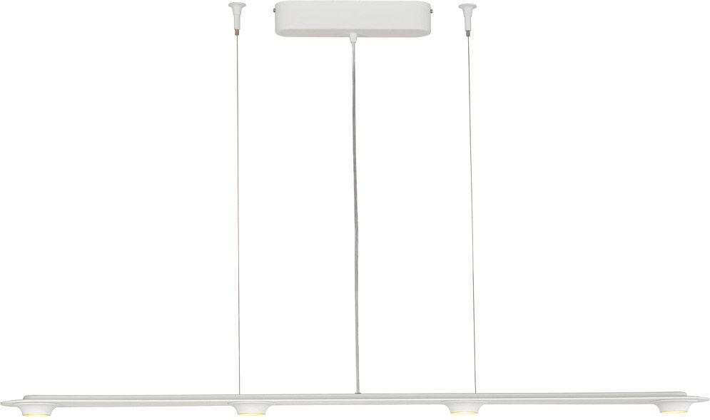 SLV Suspension LEFA à quatre lampes, LED, 3000K, blanc, variable - Lampes pendulaires