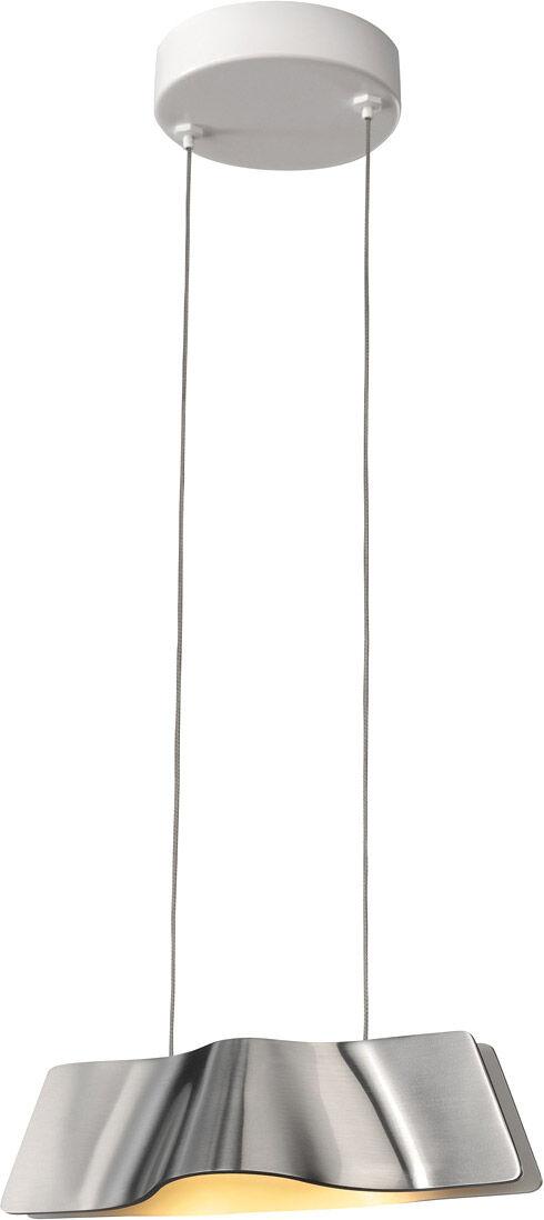 SLV Suspension WAVE PENDANT LED, 3000K, aluminium/blanc, 9W, incl. patère - Lampes pendulaires