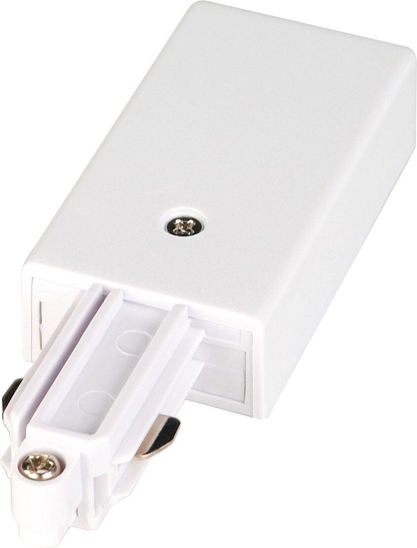 SLV ALIMENTATION pour rail en saillie monophasé 230V blanc, terre à gauche - Accessoires pour barres conductrices monophasées