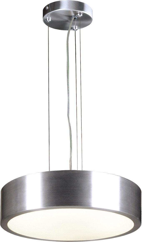 SLV Suspension MEDO LED, 3000K, rond, aluminium brossé, 18 W - Lampes pendulaires