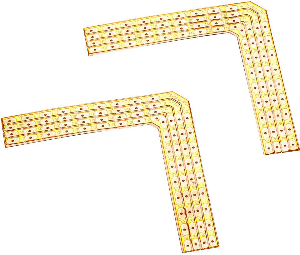 SLV COINS SOUDÉS 90° pour FLEXSTRIP LED RGB 24V max. 2A, 2 pièces - Accessoires pour éclairage décoratif