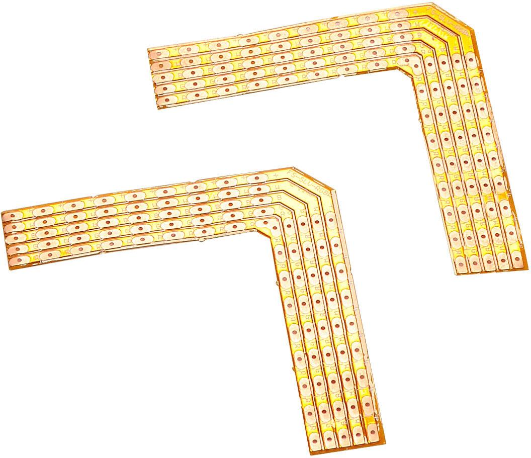 SLV COINS SOUDÉS 90° pour FLEXSTRIP LED RGBW 24V max. 2A, 2 pièces - Accessoires pour éclairage décoratif