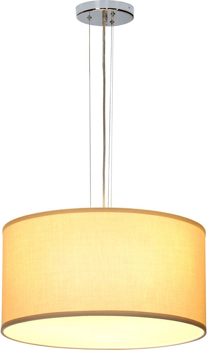 SLV Suspension SOPRANA PD-5 A60, rond, diffuseur beige Ø/H 50/26 cm, max. - Lampes pendulaires