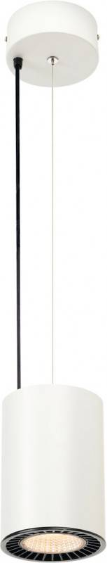 SLV SUPROS PD, suspension intérieure LED, ronde, blanche, 3000K, réflecteur 60°, CRI90, 2600lm - Lampes pendulaires