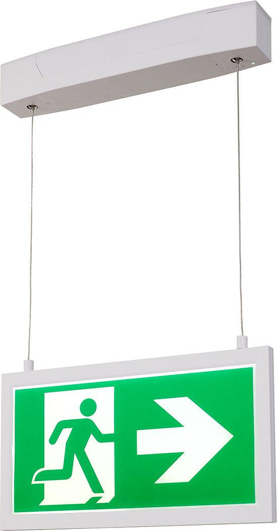 SLV Suspension P-LIGHT 33 PL luminaire de sortie de secours, LED, 6000 K, - Lampes pendulaires