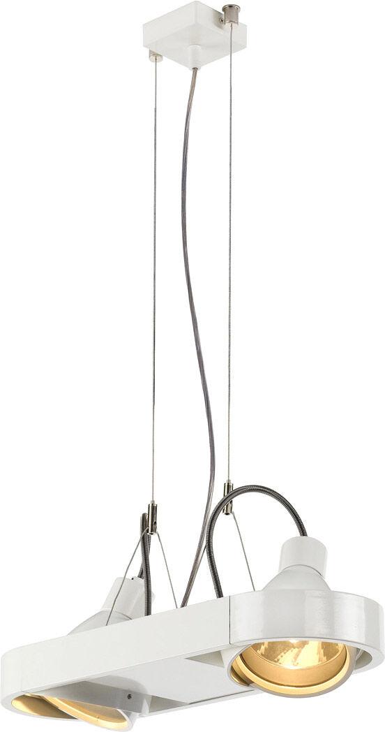 SLV Suspension AIXLIGHT R à deux lampes, HIT, rectangulaire, blanc, max. 1 - Lampes pendulaires