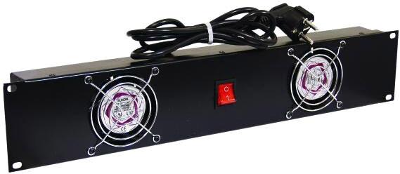 Omnitronic Front panel Z-19 with 2 fans wired 2U - Accessoires construction de malles