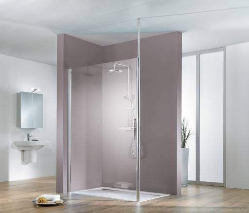Schulte Paroi de douche fixe à l'italienne Walk In Solo light Fix, 120 cm, transparent, anticalcaire