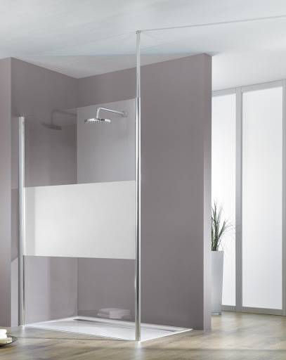 Schulte Paroi de douche fixe à l'italienne Walk In Solo light Fix, 90 cm, décor décent