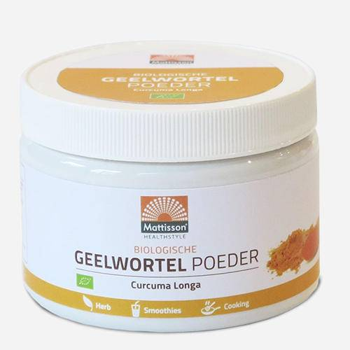 Mattisson Poudre de curcuma bio Organic Turmeric Powder