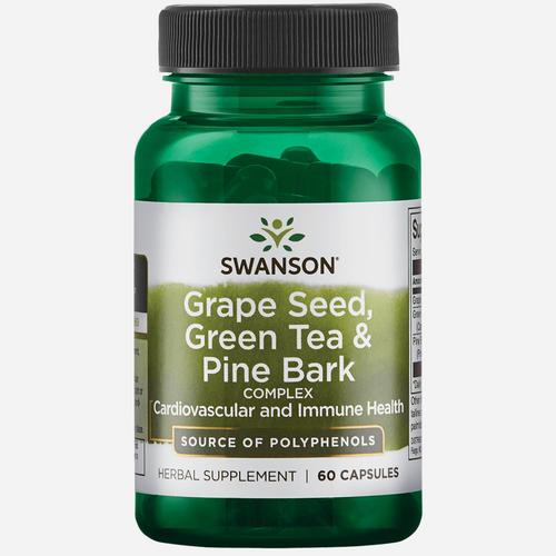 Swanson Health Pépins de raisin, Thé vert & Écorce de pin