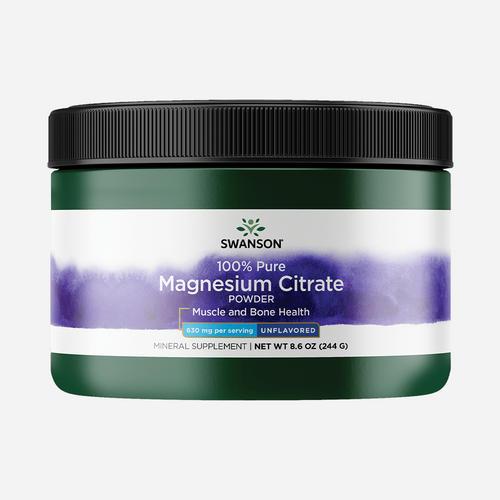 Swanson Health 100% Citrate de Magnésium pure en poudre
