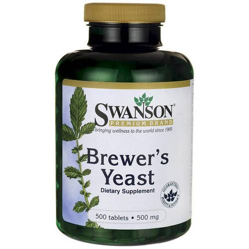 Swanson Health Brewers Yeast (levure de bière) 500mg