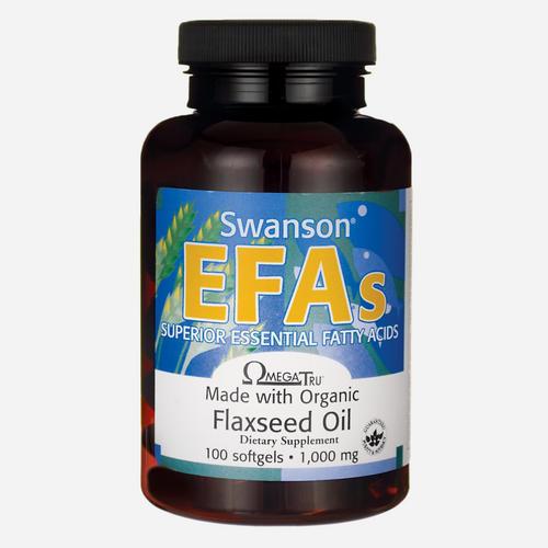 Swanson Health EFA Huile de graines de lin 1000mg