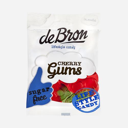 De Bron - Lifestyle Candy Cherry Gums Sans Sucre
