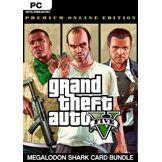 Rockstar Games Grand Theft Auto V: Premium Online Edition & Megalodon Shark Card Bundle PC