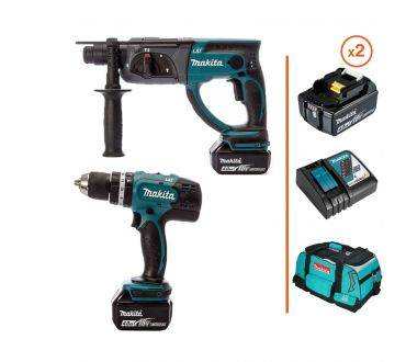 MAKITA Perceuse à percussion et perforateur burineur SDS 18V MAKITA